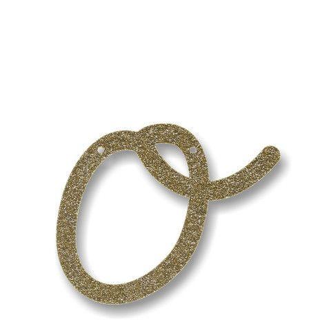 Glittery Gold O Acrylic Bunting | 1 ct