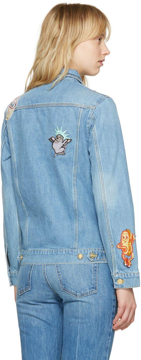 8d4125a4 Kenzo - Blue Denim Cartoon Patches Jacket   Kenzo