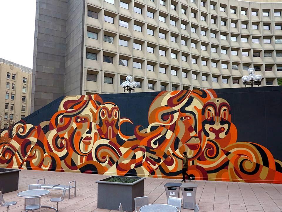 Arte da rua por REKA ONE em Washington DC, EUA
