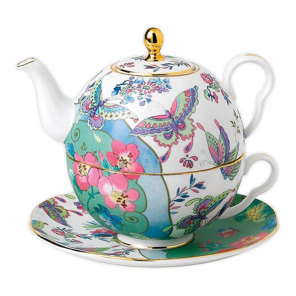 Herend Royal Garden Porcelaine Théière Théière Thé Cafetière Café Butterfly