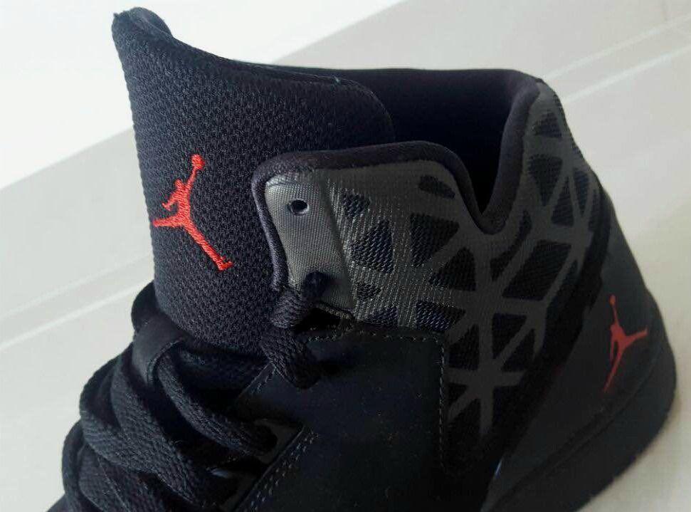 Nike Unisex Kids Girls Boys Jordan Casual Shoes Black Red 100 ...