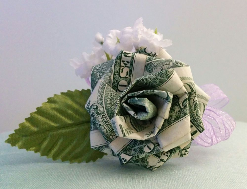 Origami Money Rose For Wedding Party Favors Anniversary Prom