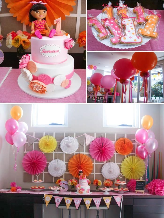 Dora The Explorer Modern Girl Birthday Party Awesome Party Ideas
