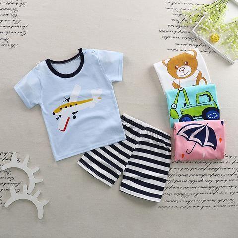 285e879c52fa Baby Boy Girl Clothes Summer 2018 Newborn Baby Boys Clothes Set ...