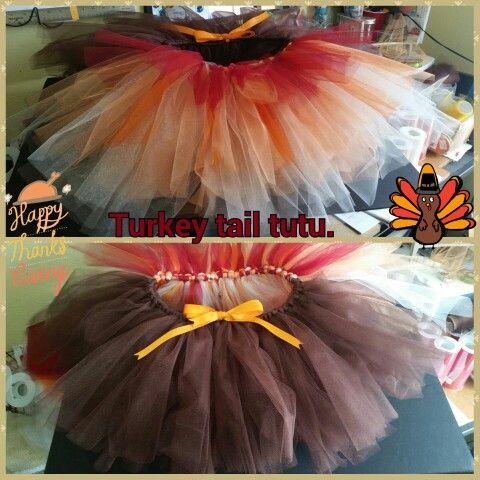 made this thanksgiving tutu. #turkeytail #tutu #tutugame
