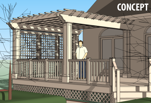 deck trellis plans - Budget And Provided A Beautiful, Usable New Back Deck. The Final
