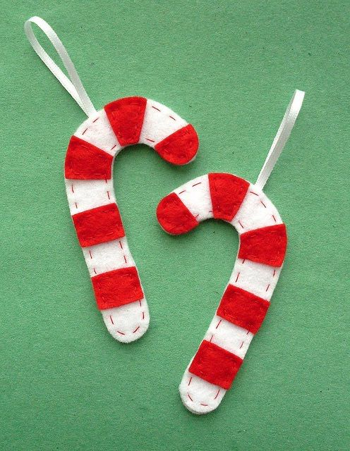 Free Printable Templates For Candy Cane Felt Ornaments I Made A