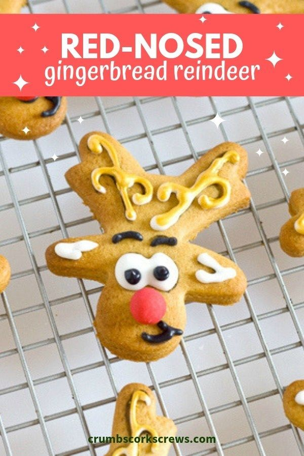 Simple and fun for festive Gingerbread Reindeer for Christmas. Don't forget Rudolph's red nose! | .uk