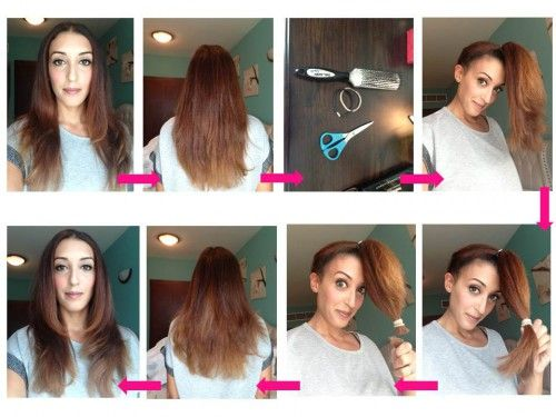 How Easy Cut Layers Into Your Own Hair Hair Shoes Tips Hair