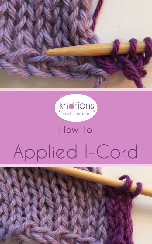 Tutorial: Applied I Cord | Tejer con dos agujas, Dos agujas y Jade
