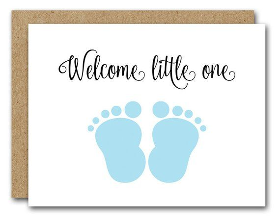 image regarding Baby Shower Card Printable known as PRINTABLE Clean Kid Card, Congratulations Youngster Card, Youngster