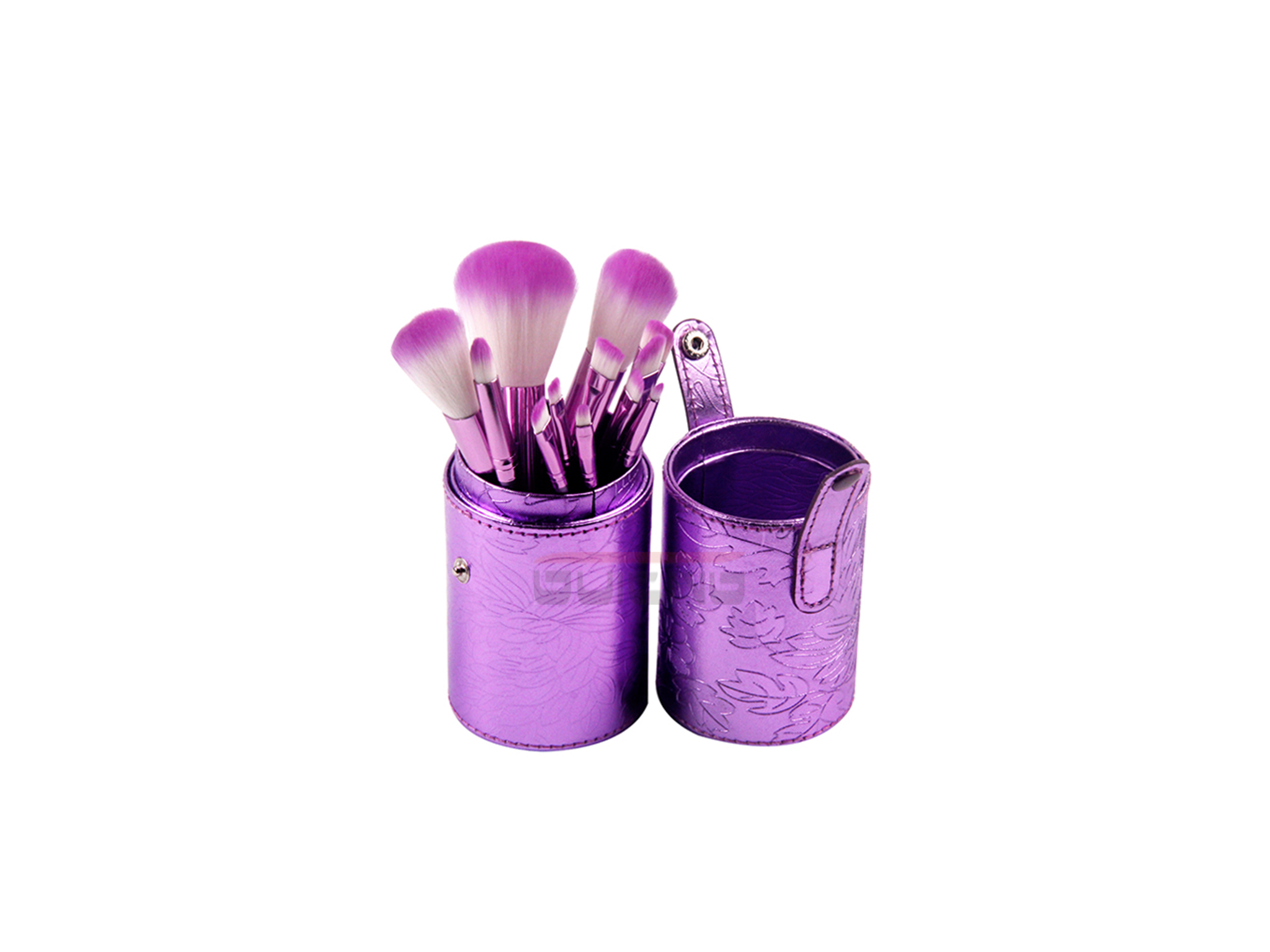 12 Piece Makeup Brush Set with Cylinder Cup Holder