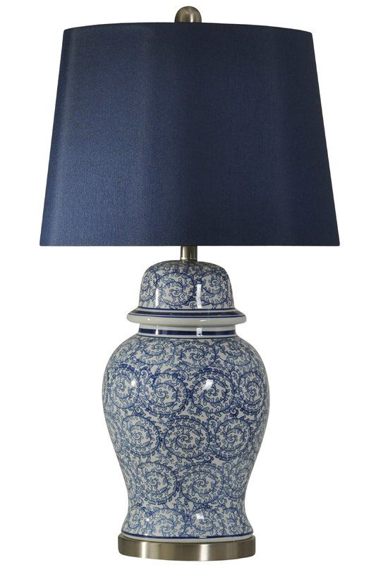 Sherwood Ginger Jar 31 Table Lamp Reviews Birch Lane Blue And White Lamp Fabric Shades Lamp