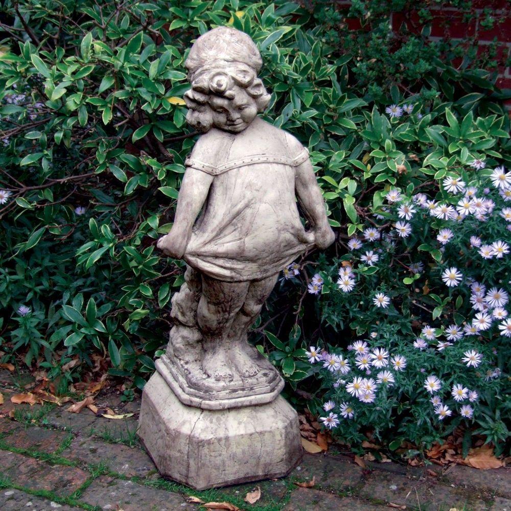 Merveilleux Victorian Girl Stone Sculpture Large Garden Statue | Su0026S Shop