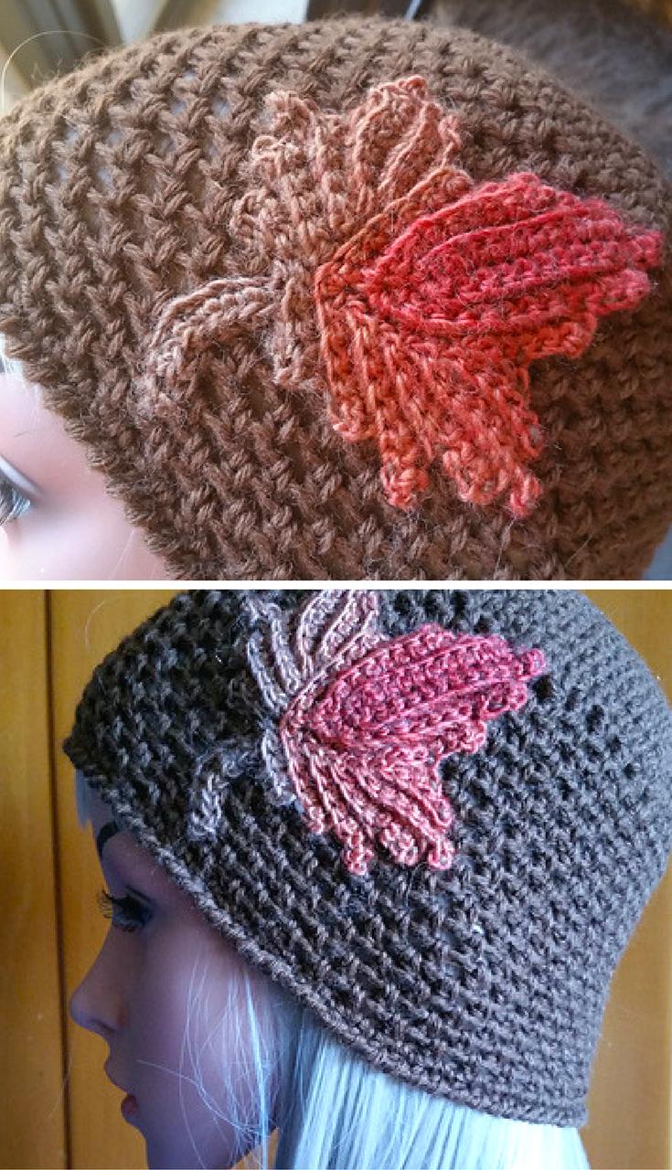 Free Crochet Pattern] Beautiful Fall Crochet Hat With Unique Design ...