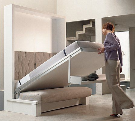 fold up bed turns into chair and shelf
