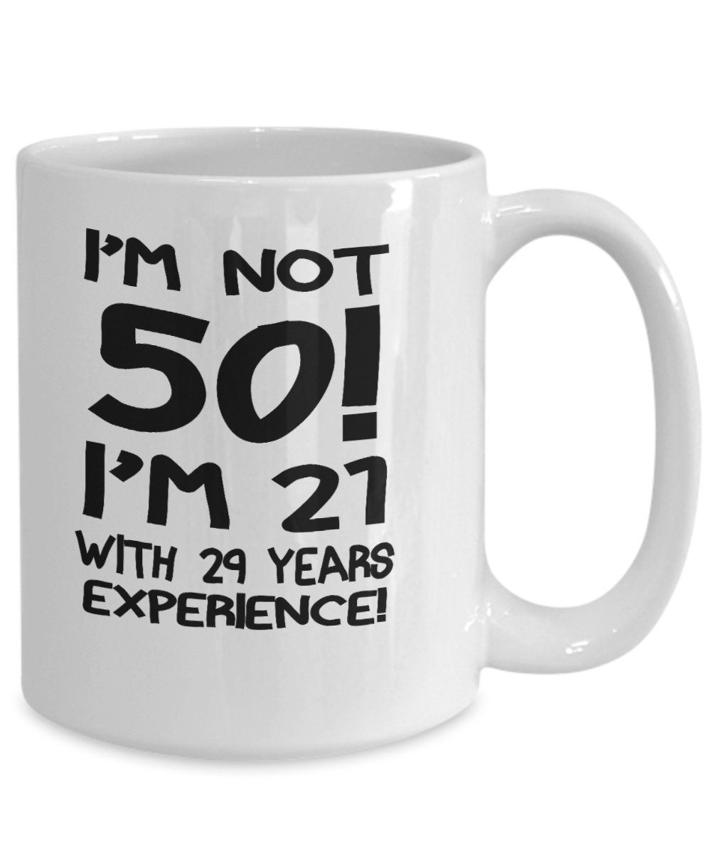 Warning 50th Happy birthday printed Coffee Mug for funny birthday present