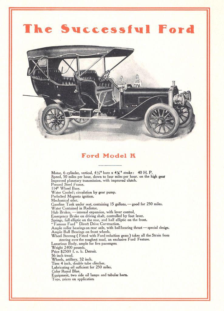 1906 Ford Model K Brochure