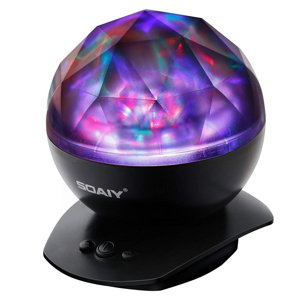 Soaiy Led Farbwechsel Nachtlicht Lampe Mit Projektion Automatische Abschaltung Schwarz Nachtlicht Nachtleuchte Led