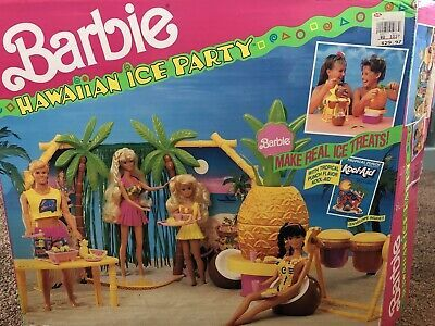 Vintage Barbie Hawaiian Luau Ice Party Mattel 7163 from 1990 Never Played With | eBay