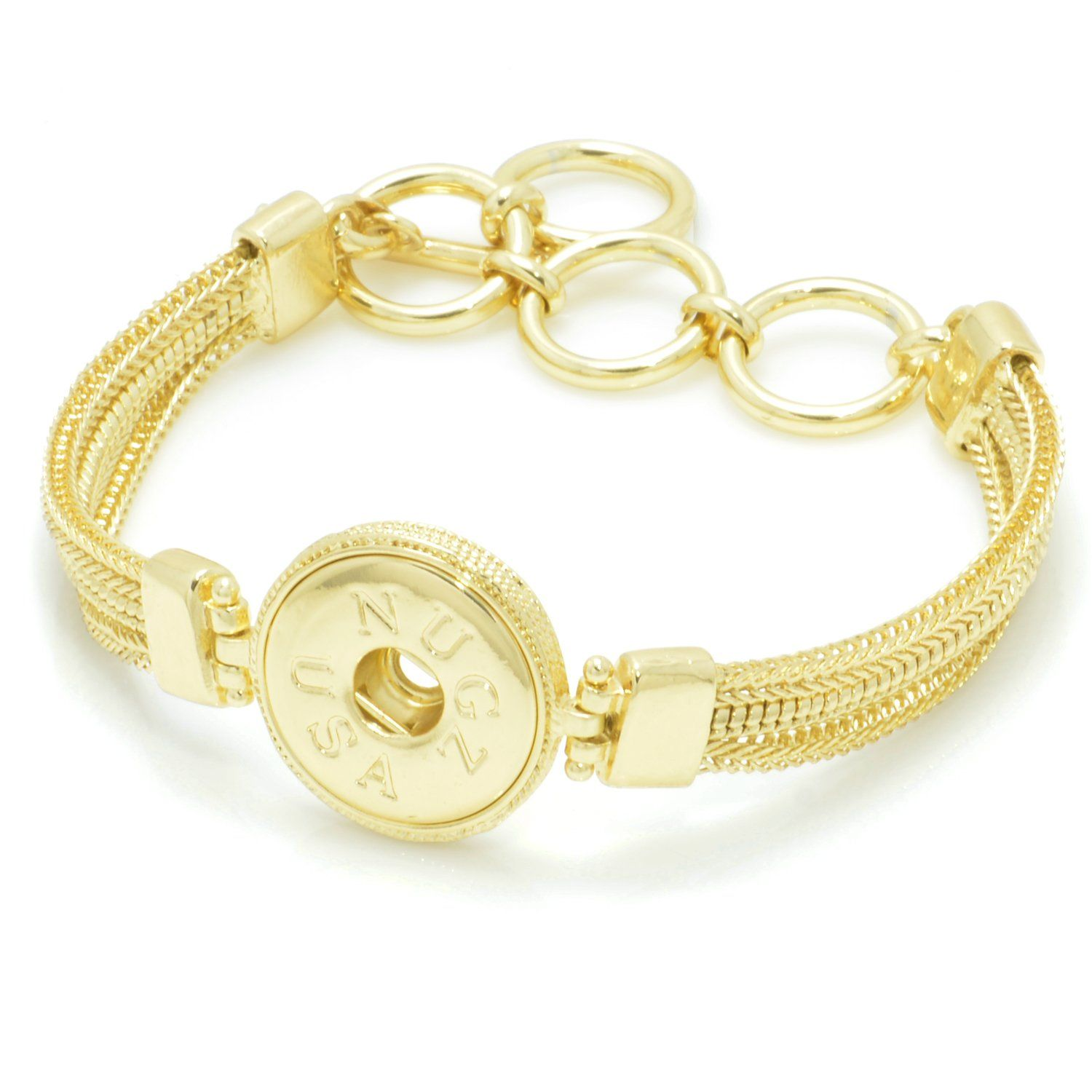 bracelet interchangeable marine charm gold