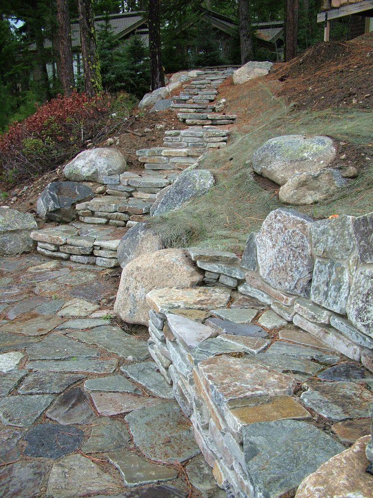 Tumbled Chief Cliff Random From Montana Rockworks Stone Design Ideas Natural Stone Landscape Exterior Random Steppi Landscape Stone Flagstone Patio Farm
