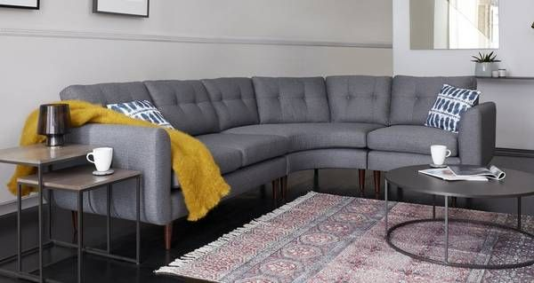 Clay Left Hand Facing Curved 2 Corner 1 Sofa | DFS