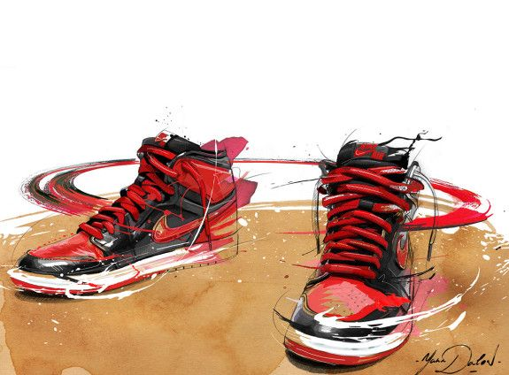 Air Jordan 1 'Banned' Painting