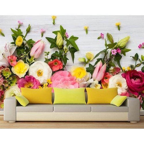 Çiçek sergisi duvar kağıdı - çiçek desenleri