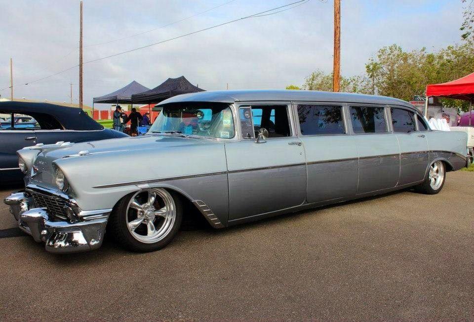 1956 chevy limousine jpm entertainment auto. Black Bedroom Furniture Sets. Home Design Ideas