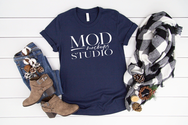 Download Navy Bella Canvas 3001 T Shirt Mockup Holiday Mock Up Etsy Clothing Mockup Shirt Mockup Tshirt Mockup
