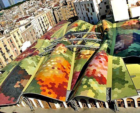 MERCADO DE SANTA CATERINA in  BARCELONA, SPAIN by EMBT   Enric Miralles - Benedetta Tagliabue