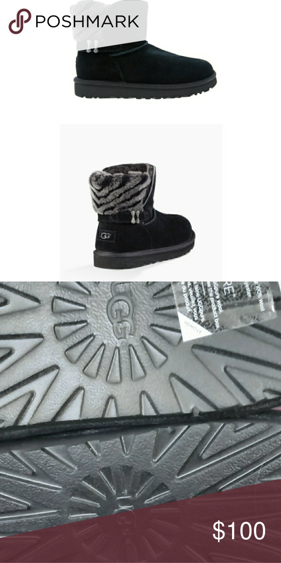 403f3c4c82f Brand New Ugg women's Adria Strip Fur Detail Ankle New/ without box ...