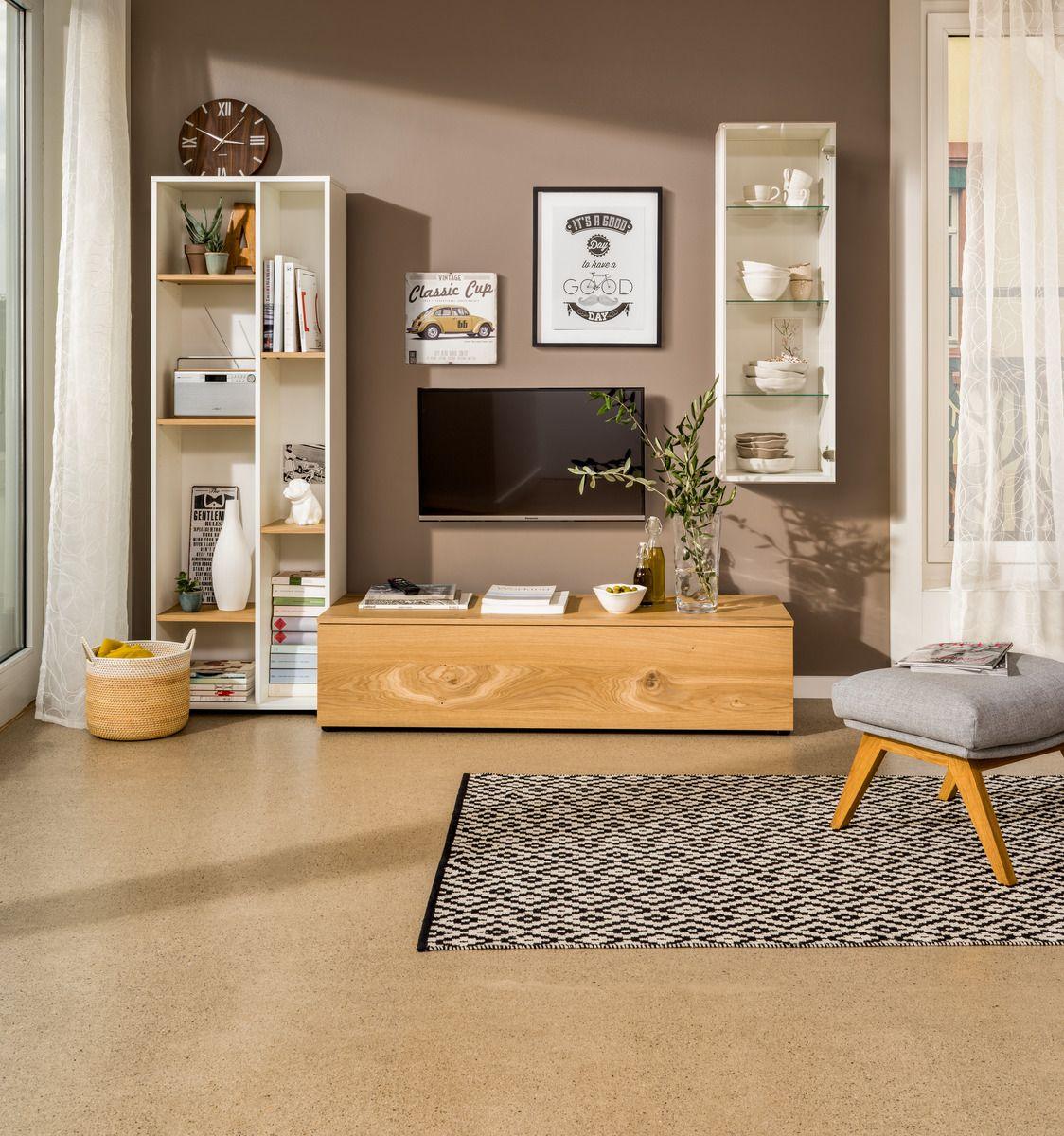 Micasa Wohnzimmer Mit Wohnsystem TELL Und Teppich KATHRIN