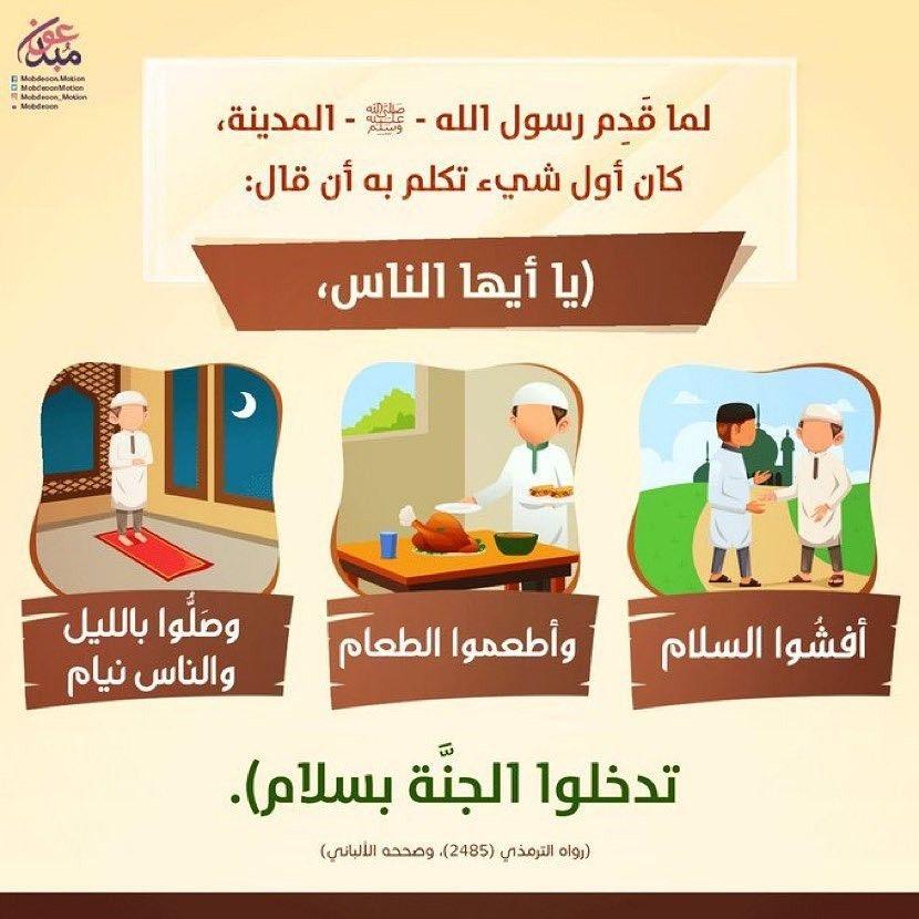 حديث النبي صلى الله عليه وسلم Islamic Messages Islam For Kids Ahadith