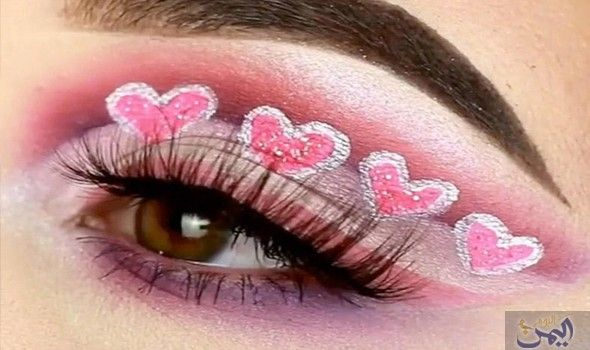 مكياج عيون مميز بالقلوب الحمراء لاعتماده في عيد الحب Sleep Eye Mask Beauty Mask