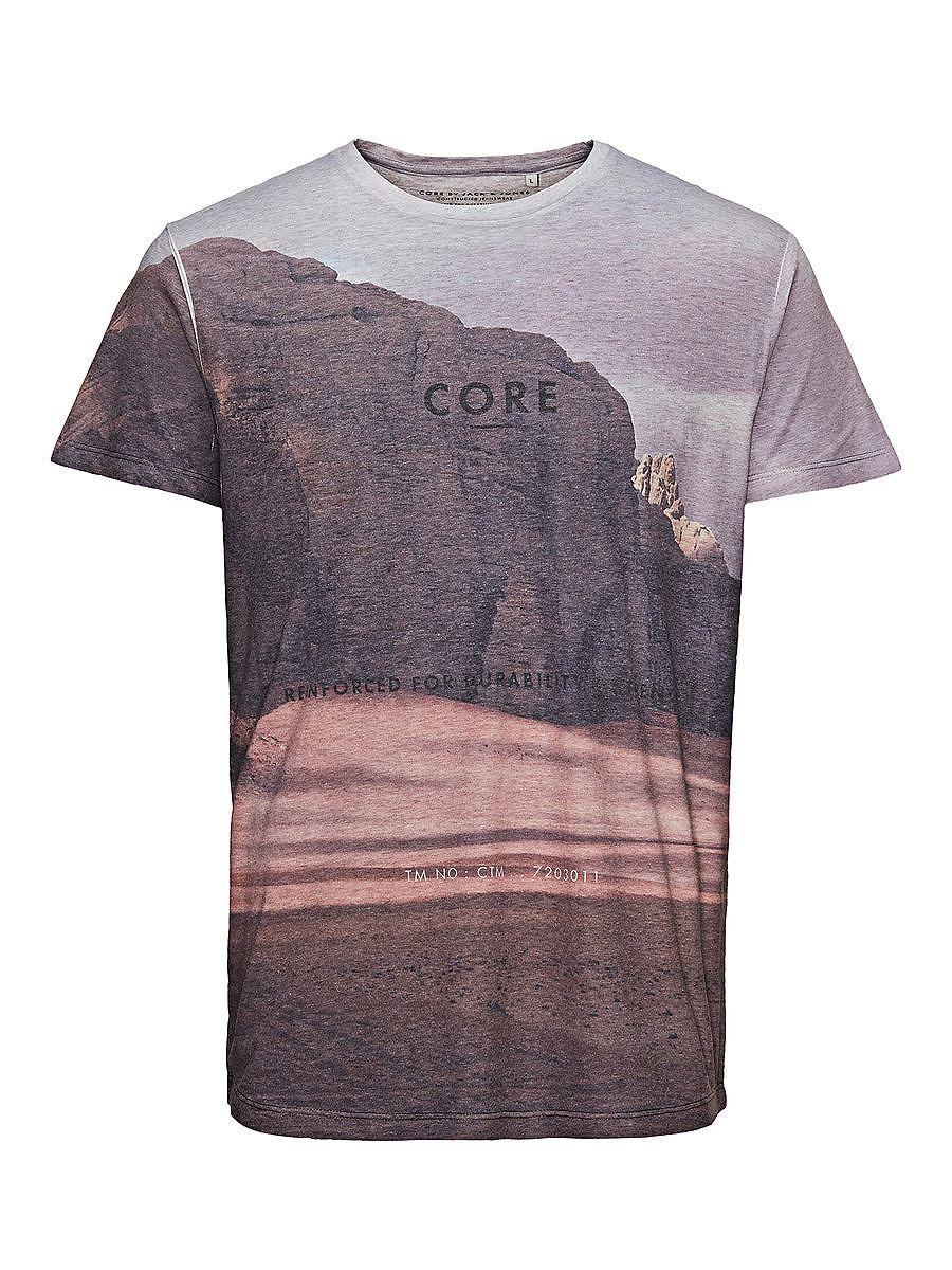 CORE by JACK & JONES - T-Shirt von CORE - Regular fit - Rundhalsausschnitt - Transferdruck auf der Vorderpartie - Das Modell trägt Größe L und ist 187 cm groß 65% Polyester, 35% Baumwolle...