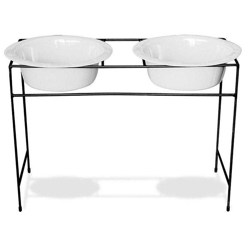 Platinum pets 12cup modern double diner pet bowl set