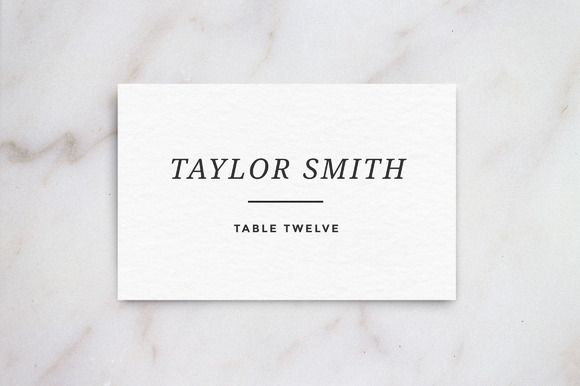 Wedding Table Place Card Template Creativework247