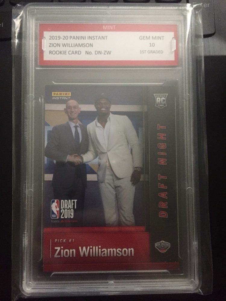 This is zion williamsons first official panini rookie