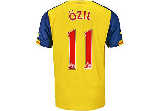 38f7450c6 Puma Kids Ozil Arsenal Away Jersey 2014-15...show your love for Mesut Ozil!  Grab your jersey now!