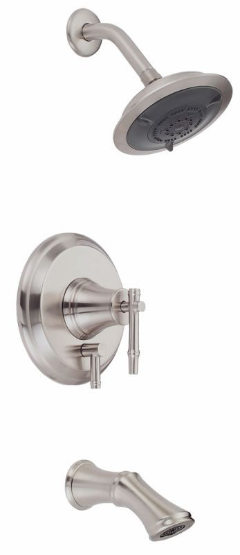Danze D500045T Pressure Balanced Tub and Shower Trim Package with Multi Function Brushed Nickel Faucet Tub and Shower Single Handle