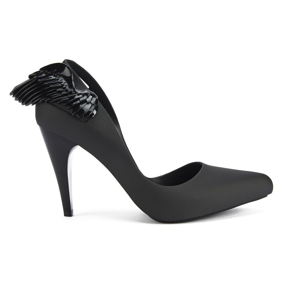 Buy Vivienne Westwood for Melissa Women's Classic Angel Wing Heeled Courts  - Black Wing here at