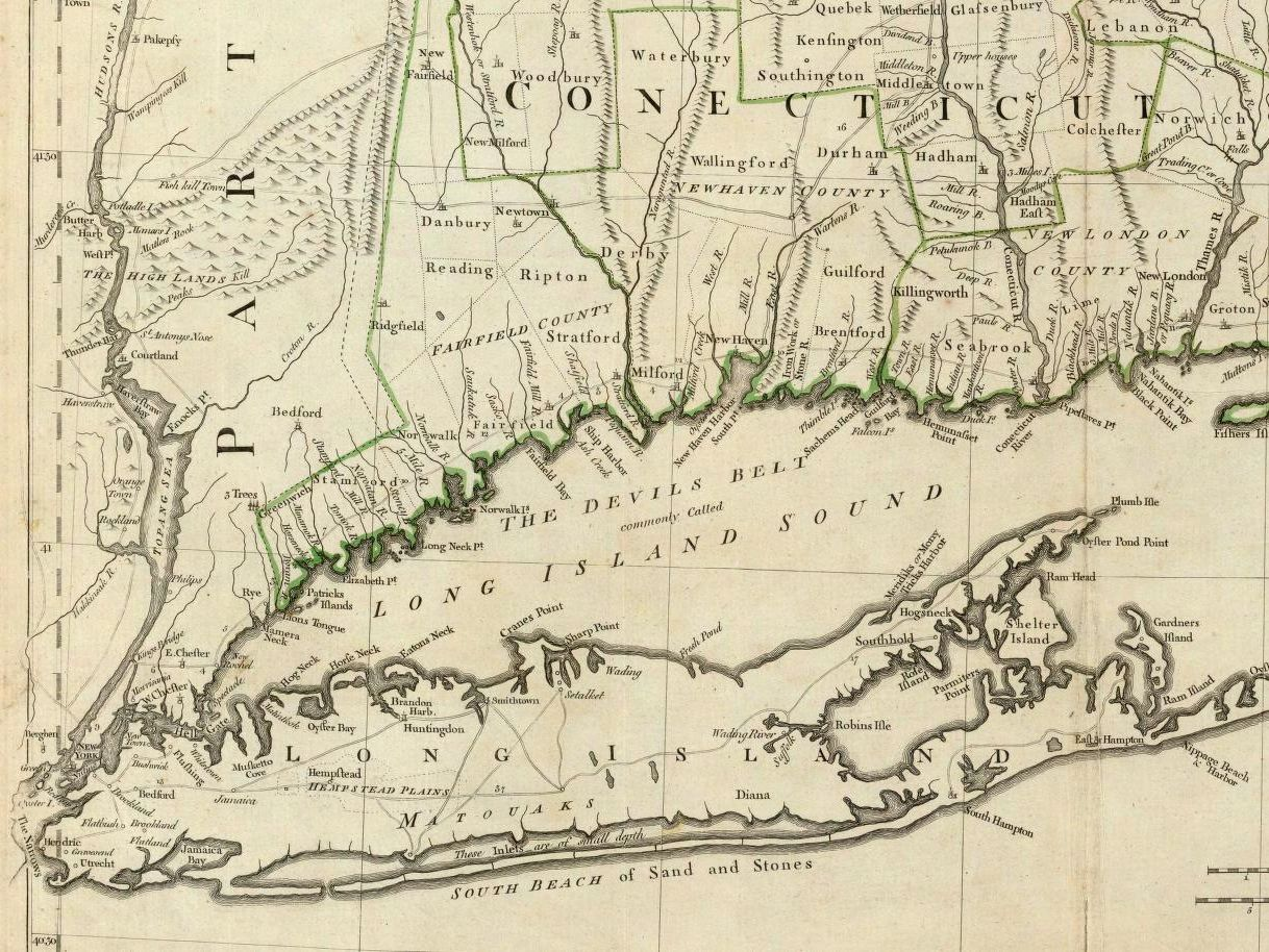 Map of Fairfield CT coast from 1776 where my Vaughans were ...
