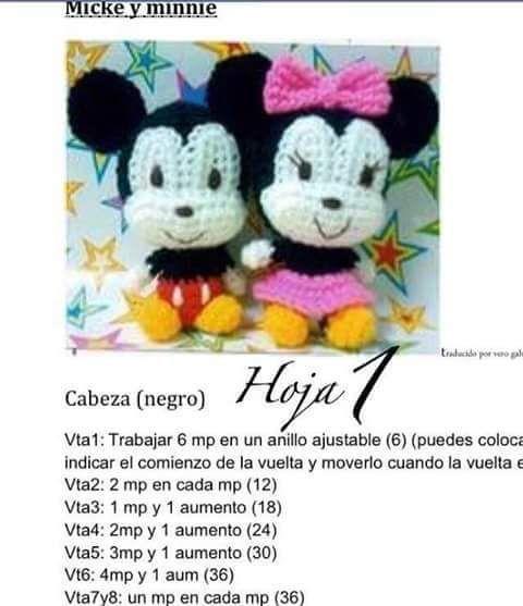 Los Amigus de Paloma: Mickey y Minnie Amigurumi (Patrón Gratis ...