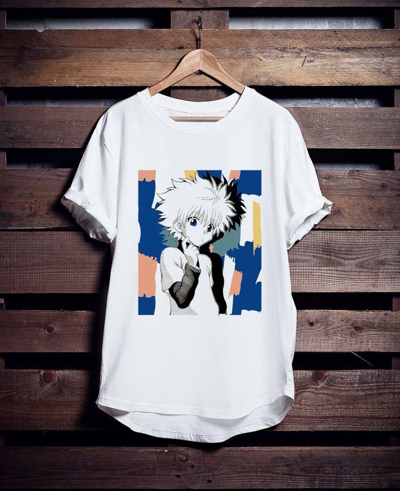 Anime shirt 8bit art killua hxh art shirt unique design