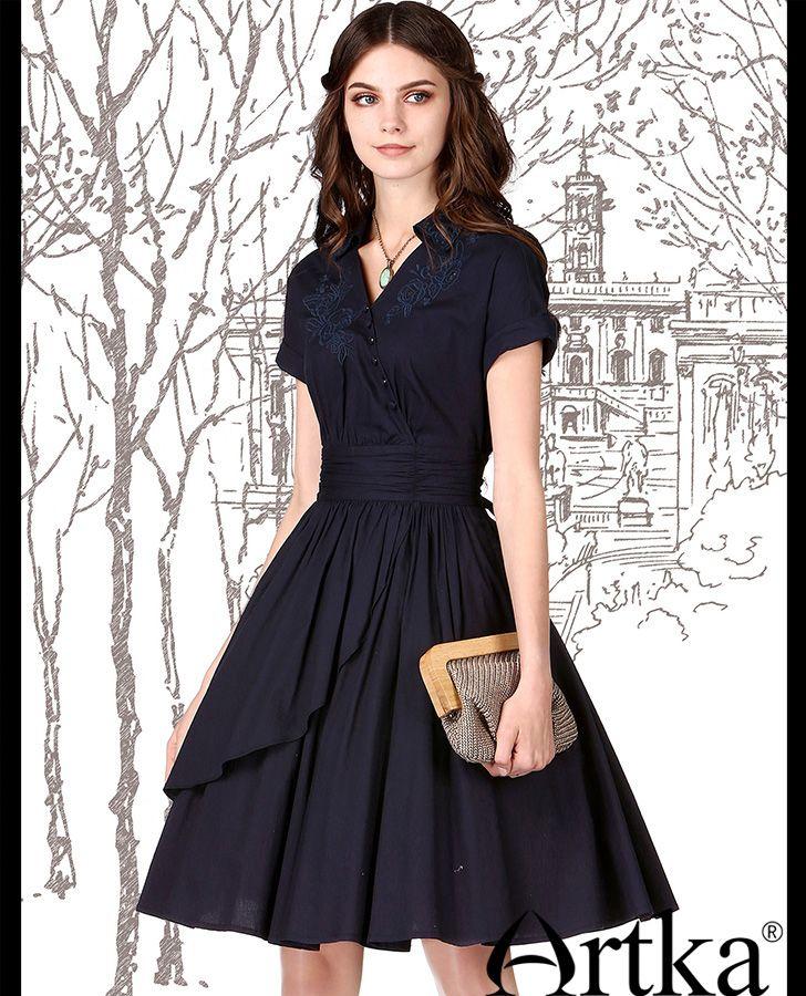 Повседневное платье ретро