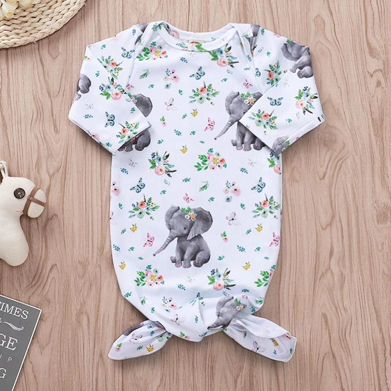Elephant Print Sleeping Bag In 2020 Baby Girl Swaddle Baby Clothes Online Shopping Vintage Baby Clothes
