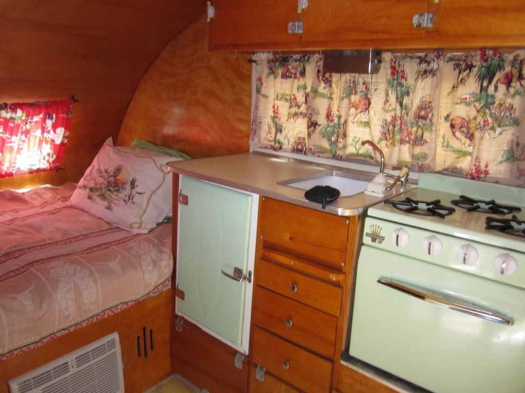 New Curtains In Pictorial Vintage Trailer Renovations Forum