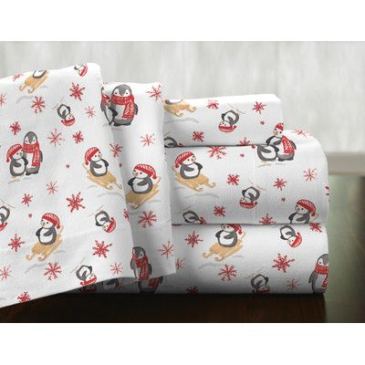 The Holiday Aisle Seiter 100 Cotton Flannel Sheet Set Deep Pocket Sheets Sheet Sets Flannel
